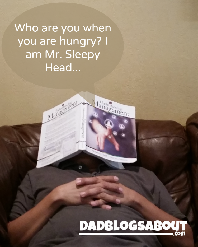 Who are you when you are hungry? I am Mr. Sleepy Head…
