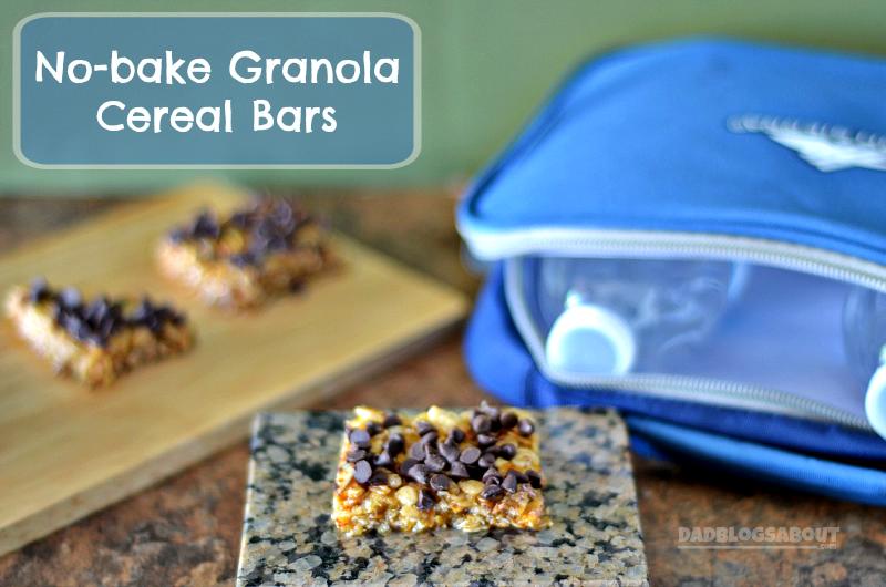 No-bake Granola Cereal Bars