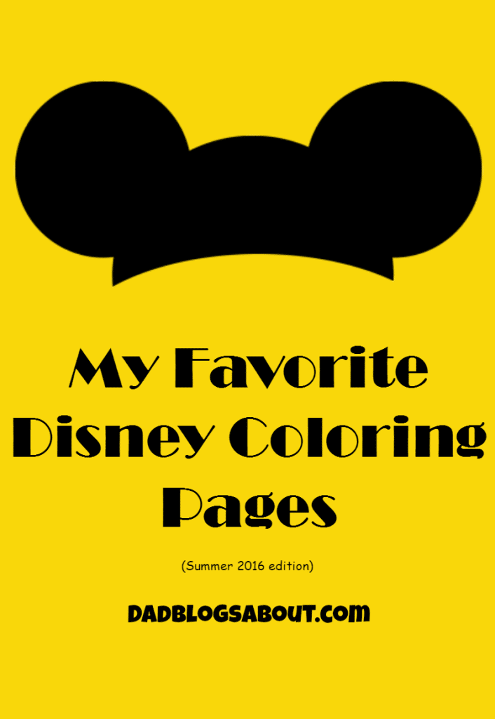 My Favorite Disney Coloring Pages