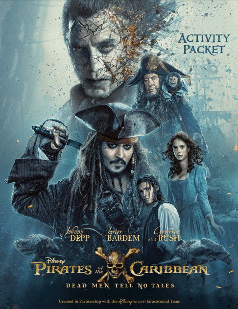 Pirates of the Caribbean: Dead Men Tell No Tales Activity Sheets. More at DadBlogsAbout.com